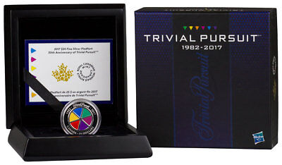 2017 Canada $25 1oz Piedfort Enameled Proof Silver 35th Trivial Pursuit SKU44824