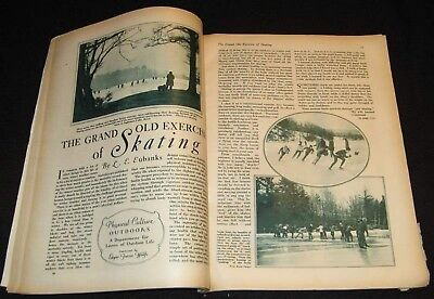 Ice Skate 1930 Pictorial On  Health Benefits Of Grand Old Exercise Of Skating