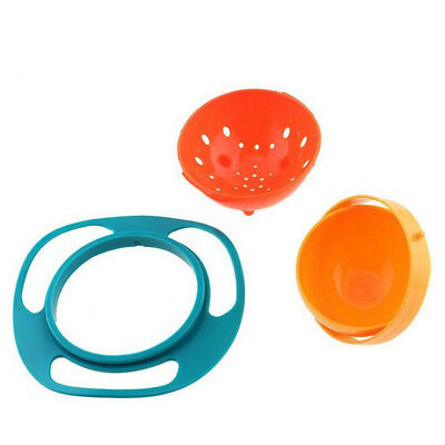 360 Degrees Baby Anti-spill Feeding Food Gyro Bowl Dishes Rotating Bowl new