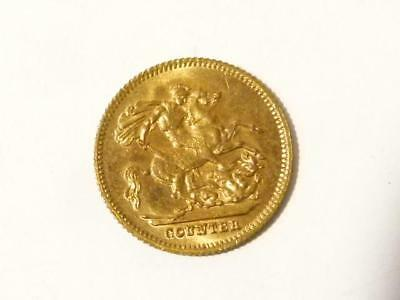 19thC Young Victoria Sovereign LAUER COUNTER Toy Model Coin Token Miniature #8*
