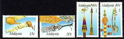 1987 MALAYSIA MALAYSIAN MUSICAL INSTRUMENTS SG365-368 mint unhinged
