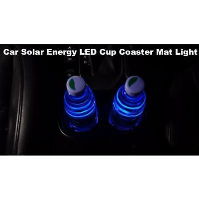 Solar Cup Pad Car accessories LED Light Cover Interior Decoration Lights New