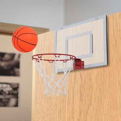 Mini Basketball Hoop Backboard Indoor Home Office Wall Over Door Kids Sports