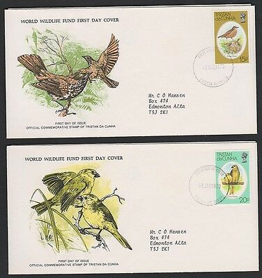 TRISTAN DA CHUNHA   BIRDS 253, 254 on 2 FDCs 1979