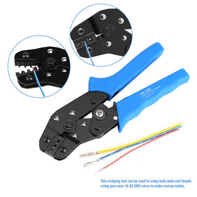 SN-28B Pin Crimping Crimper Tool 2.54mm 3.96mm 28-18AWG 0.1-1.0mm² For Dupont