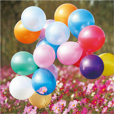 100pcs 10 inch Colorful Latex Balloon Pearl Party Wedding Birthday Bachelorette