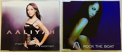 AALIYAH *RARE* 2x CD SINGLE LOT More Than A Woman & Rock The Boat EU & AUSTRALIA