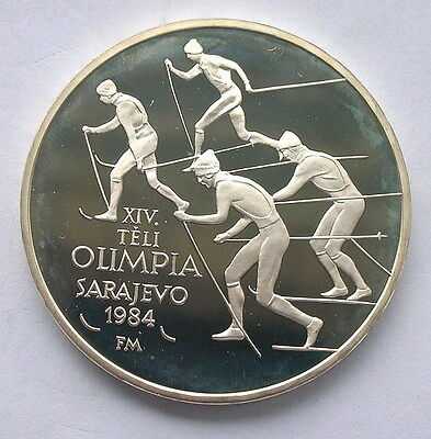 Hungary 1984 Winter Olympics 500 Forint Silver Coin,Proof