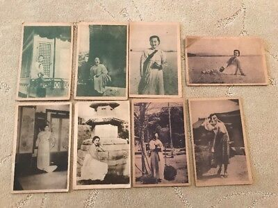 8 South Korea Ladies In Traditional Clothing Actress ? Vintage Postcards