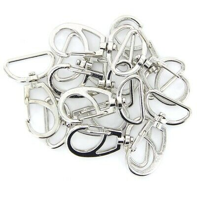 10Pc 25mm Bag Car Clasps Swivel Trigger Clips for Handbag Strapping Key Ring
