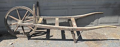 Antique market garden cart blacksmith forged hardware collectible wood pinned