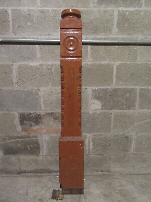 ~Ornate Antique Walnut Newel Post ~ 53.5 Tall ~ Architectural Salvage ~