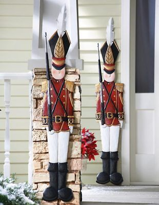 Vintage Style 4 Ft. Metal Christmas Tin Soldier Indoor/Outdoor Holiday Decor