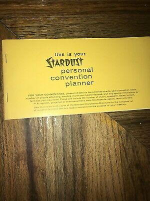 Stardust Hotel Convention Planner & Key To Facilities Book Las Vegas Nevada