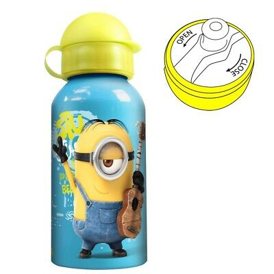 Botella de Aluminio Minion | azul 400 ml | Despicable Me | Niños Cantimplora