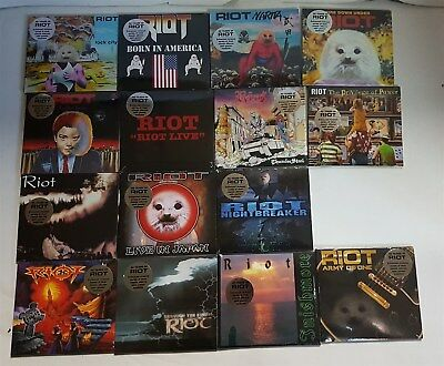 Riot Lot of 15 CDs new Fire Down Under Narita Born In America Fire Down Under