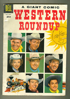 Western Roundup Comic #15 Dell Comics 7-9 1956 Giant Cowboy Gene Autry Rr Dale