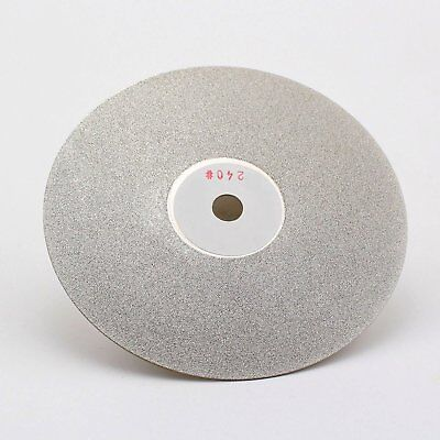 Drilax 6 Inch Professional Quality High Density Diamond Coated Flat Lap 240 Grit