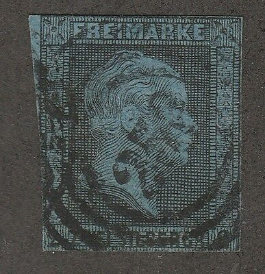 Kappysstamps S1841 German States Prussia Sc # 12  Used Imperf  Catalog=$17