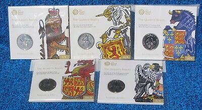 The Queen's Beasts ,Brilliant uncirculated Coins, First 5