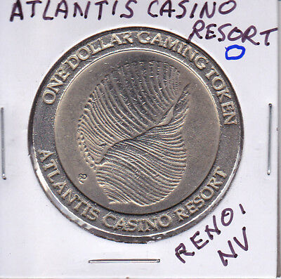 Casino $1 Token Chip - Atlantis Casino & Resort- Reno, Nv Slot Machine Coin
