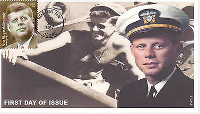 Jvc Cachets - 2017 John F. Kennedy President First Day Cover Fdc  Style #2