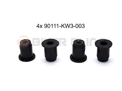 4x Honda CBR600F 1999-2000 screen rubber well raw plug grommet nut 90111-KW3-003