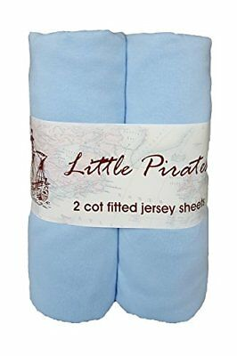 2 X Baby Cot Fitted Sheet 60x120 100% Jersey Cotton -