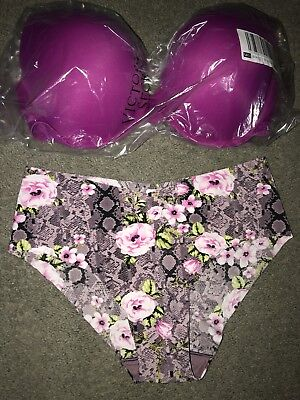 69f034992c Victoria Secret PINK WEAR EVERYWHERE PUSH UP BRA 36DD   HIPHUGGER PANTY L
