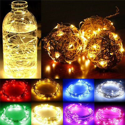 20/30/100 LED Battery White RGB Micro Rice Wire Copper Fairy String Lights Party