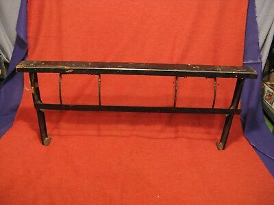 """Vintage 24"""" Paper Cutter Roll Holder Dispenser Iron Butcher Craft Wrapping"""