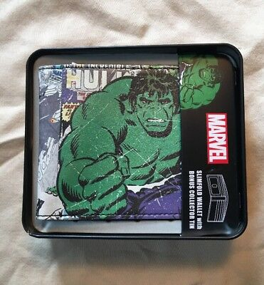 Marvel Comic Cover Slim WALLET & COLLECTOR TIN: Hulk