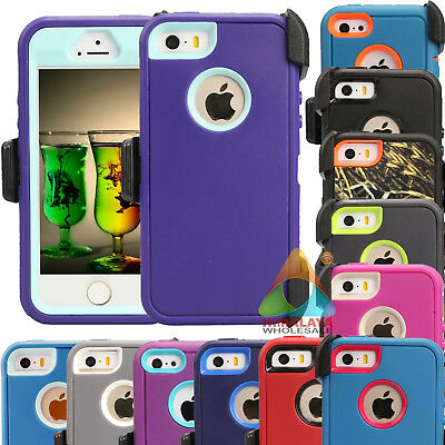 For Apple iPhone 5 5S SE 5C Case (Clip fits Otterbox Defender) B03 Holster Cover