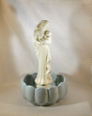 Madonna Holy Blessed Mother Mary & Baby Jesus Statue Vase