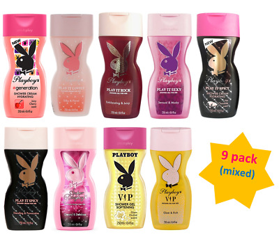 BUNDLE - Women's Playboy Shower Gel 250ml - Mix, 9 pack (any scents)