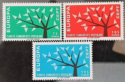 Turkey 1962 Sc # 1553 to Sc # 1555 Europa Mint MNH Stamps Set