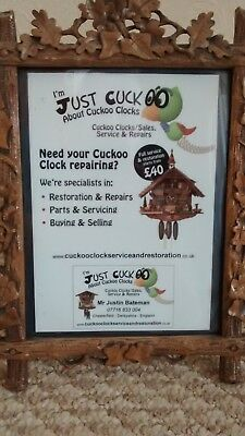 Cuckoo Clock Repairs, Servicing, Parts UK  Derbyshire Chesterfield