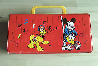 12er MC Kassetten Box Koffer Walt Disney Mickey Mouse vintage