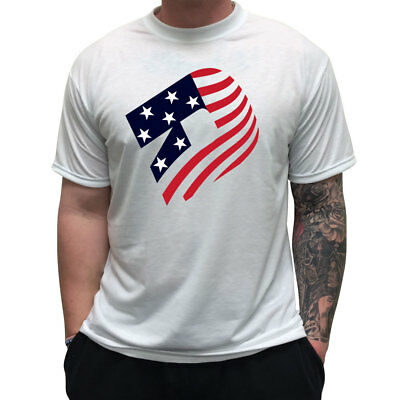 DeMarini Sublimated D Logo USA Men's Baseball/Softball T-Shirt - White - Medium