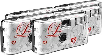 TopShot Love Hearts Disposable Camera 27 Photos Flash 5 Pack White