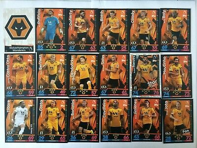 Match Attax 18/19 Wolves  #343 - #360  Buy 3 Get 7 Free