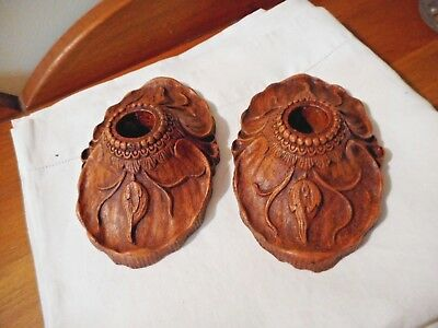 Syroco Art Nouveau Pair Of Candleholders Candle Holders