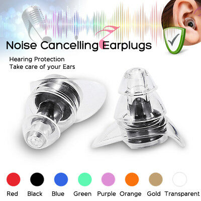 20DB Noise Cancelling Ear Plugs Concerts Musicians Motorcycle Hearing Protection