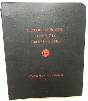 1939-40 Studebaker Confidential Dealer Optional Equipment Accessories Price Book