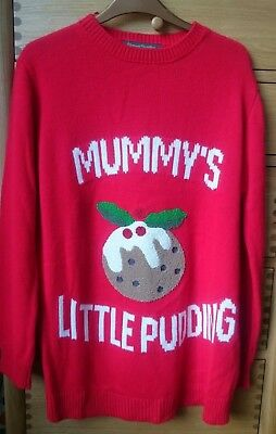 BNWT Red Mothercare Blooming Marvellous Maternity Christmas Jumper sz M12/14