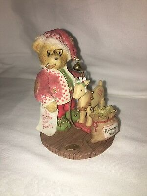 Cherished Teddies Bear 2001 Wendall 'Have You Been Naughty Or Nice?' #848565