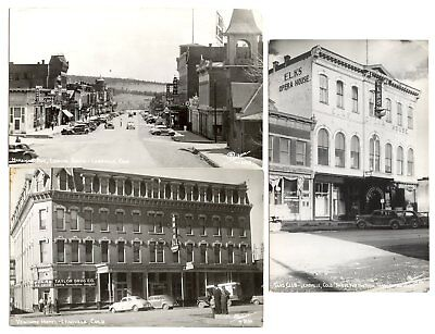 4 Leadville Colorado Postcards REAL PHOTO Matchless Mine Tabor Opera House 1950