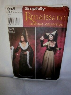 Halloween Cosplay Costume Pattern Simplicity 9058 Size 14 to 20  Renaissance