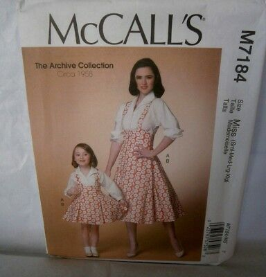 Halloween Cosplay Costume Pattern McCalls 7184 Size 8 to 22 1950's Jumper Blouse