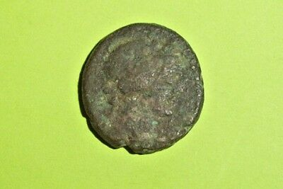 Authentic Ancient GREEK COIN thyrsus BLAUNDUS LYDIA tool of Dionysus scepter old